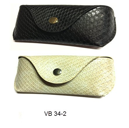 Sunglasses Case Snake Black/Cream VP34